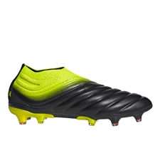 Adidas Copa 19+ FG Soccer Cleats (Core Black/Solar Yellow)