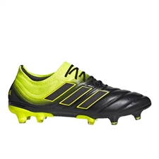 Adidas Copa 19.1 FG Soccer Cleats (Core Black/Solar Yellow)