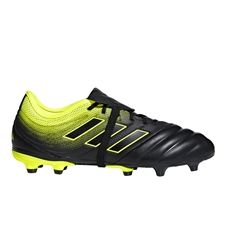 Adidas Copa Gloro 19.2 FG Soccer Cleats (Core Black/Solar Yellow)