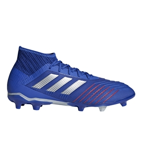 Adidas Predator 19.2 FG Soccer Cleats (Bold Blue/Silver Metallic/Football Blue)
