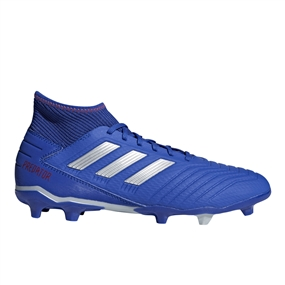 Adidas Predator 19.3 FG Soccer Cleats (Bold Blue/Silver Metallic/Active Red)