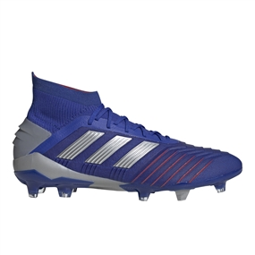 Adidas Predator 19.1 FG Soccer Cleats (Bold Blue/Silver Metallic/Football Blue)