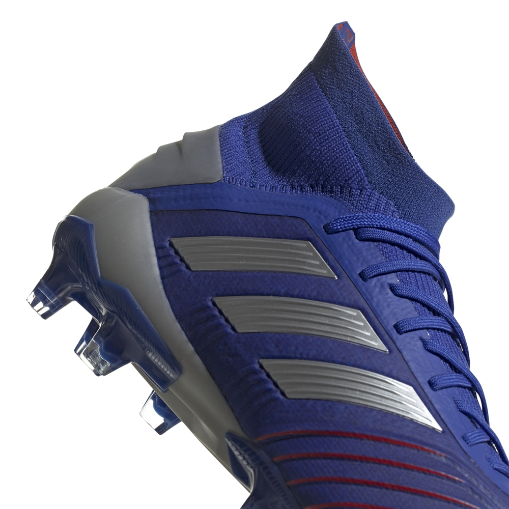 19b7de93544 Adidas Predator 19.1 FG Soccer Cleats (Bold Blue Silver Metallic Football  ...