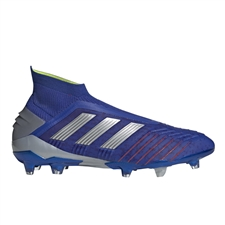 Adidas Predator 19+ FG Soccer Cleats (Bold Blue/Silver Metallic/Active Red)