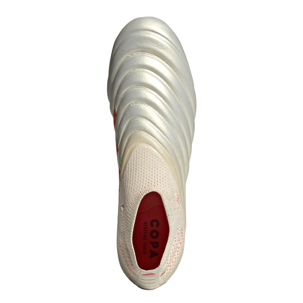 low priced 29353 4bede Adidas Copa 19+ FG Soccer Cleats (Off White Solar Red)