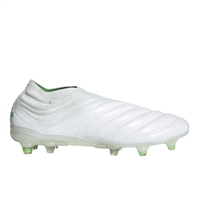 Adidas Copa 19+ FG Soccer Cleats (White/Solar Lime)