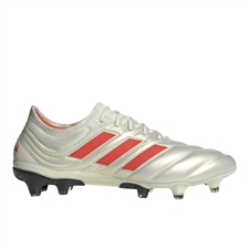 Adidas Copa 19.1 FG Soccer Cleats (Off White/Solar Red/Core Black)