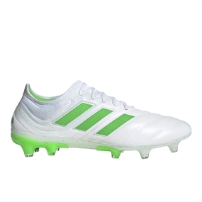 Adidas Copa 19.1 FG Soccer Cleats (White/Solar Lime)