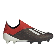 Adidas X 18+ FG Soccer Cleats (Core Black/White/Active Red)