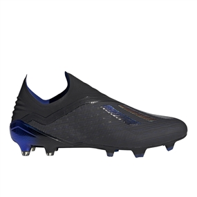 Adidas X 18+ FG Soccer Cleats (Core Black/Bold Blue)