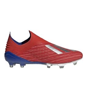 Adidas X 18+ FG Soccer Cleats (Active Red/Silver Metallic/Bold Blue)