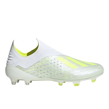 Adidas X 18+ FG Soccer Cleats (White/Solar Yellow/Off White)