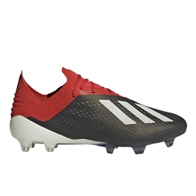 Adidas X 18.1 FG Soccer Cleats (Core Black/White/Active Red)