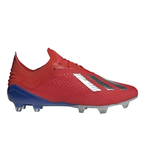 Adidas X 18.1 FG Soccer Cleats (Active Red/Silver Metallic/Bold Blue)