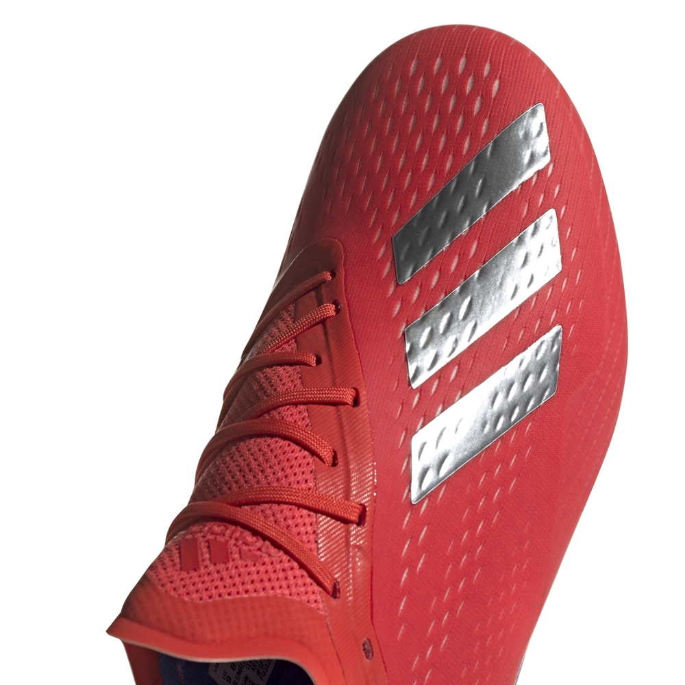 Adidas X 18.1 FG Soccer Cleats (Active Red Silver Metallic Bold Blue ... 67d9542a0c0
