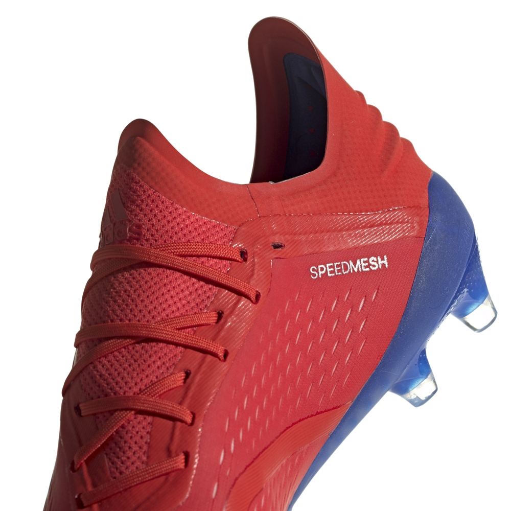 bb668af6e237 Adidas X 18.1 FG Soccer Cleats (Active Red/Silver Metallic/Bold Blue ...