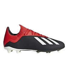 Adidas X 18.3 FG Soccer Cleats (Core Black/Off White/Grey)