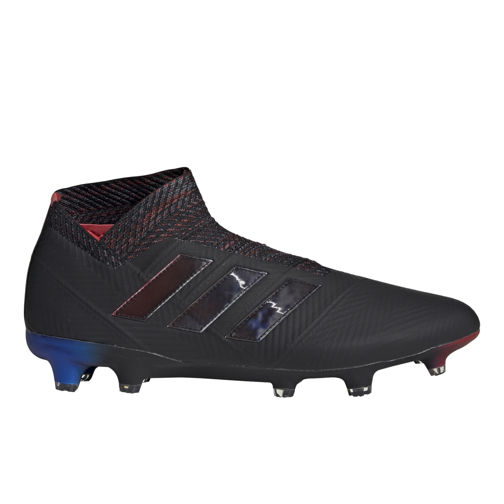 4d65b189e Adidas Nemeziz 18+ FG Soccer Cleats (Core Black/Football Blue) | Adidas