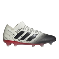 Adidas Nemeziz 18.1 FG Soccer Cleats (Off White/Core Black/Active Red)