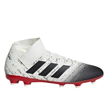 Adidas Nemeziz 18.3 FG Soccer Cleats (Off White/Core Black/Active Red)