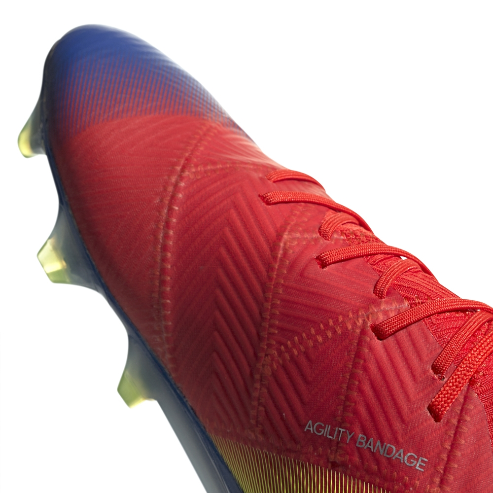 b3cb5582d7ea Adidas Nemeziz Messi 18.1 FG Soccer Cleats (Active Red/Silver Metallic/Football  Blue)