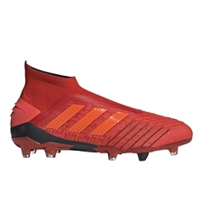 Adidas Predator 19+ FG Soccer Cleats (Active Red/Solar Red/Core Black)