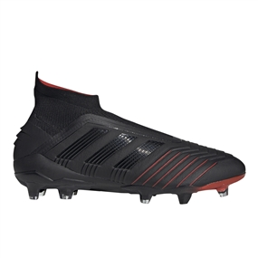 Adidas Predator 19+ FG Soccer Cleats (Core Black/Active Red)