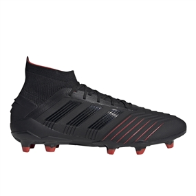 Adidas Predator 19.1 FG Soccer Cleats (Core Black/Active Red)