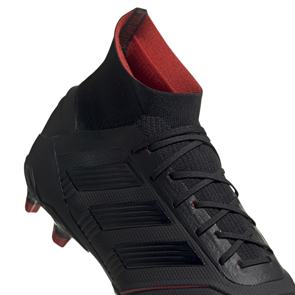 f45d14374 Adidas Predator 19.1 FG Soccer Cleats (Core Black Active Red ...