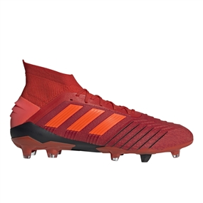 Adidas Predator 19.1 FG Soccer Cleats (Active Red/Solar Red/Core Black)