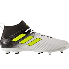 Adidas ACE 17.3 FG Soccer Cleats (White/Solar Yellow/Core Black) | Adidas Soccer Cleats |FREE SHIPPING| Adidas BY2196 | SoccerCorner.com