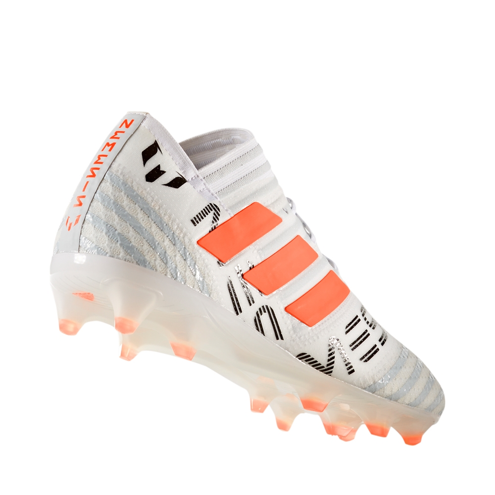 cb8cdd7d8 Adidas Nemeziz Messi 17.1 FG Soccer Cleats (White Solar Orange Clear Grey)