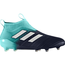 Adidas ACE 17+ Purecontrol FG Soccer Cleats (Energy Aqua/White/Legend Ink) | BY3063