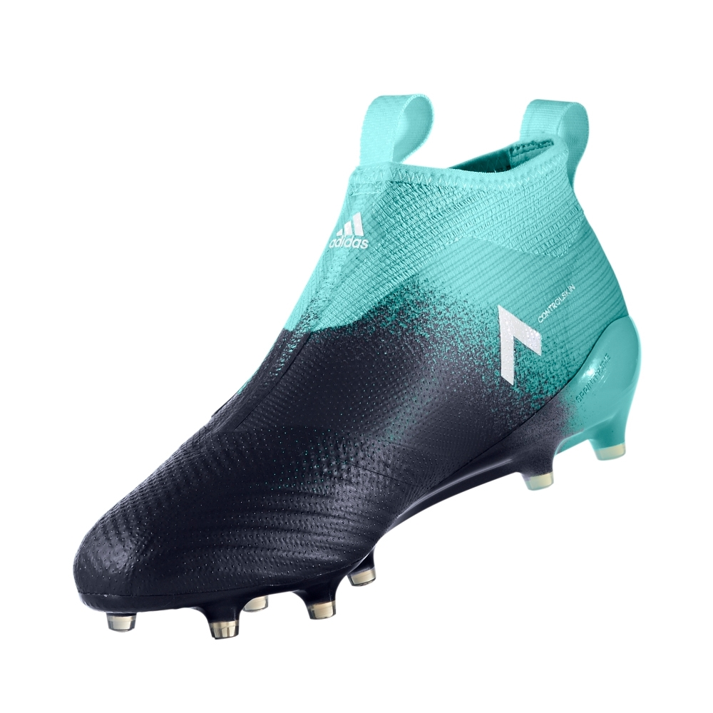 80bf97b2d adidas ace 17 purecontrol fg soccer cleats energy aqua & legend ink ...