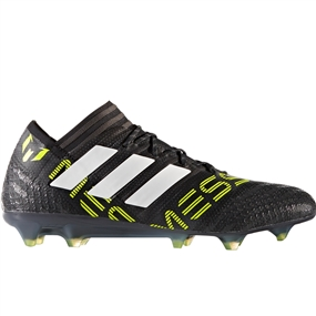 Adidas Nemeziz Messi 17.1 FG Soccer Cleats (Core Black/White/Solar Yellow) | CG2962