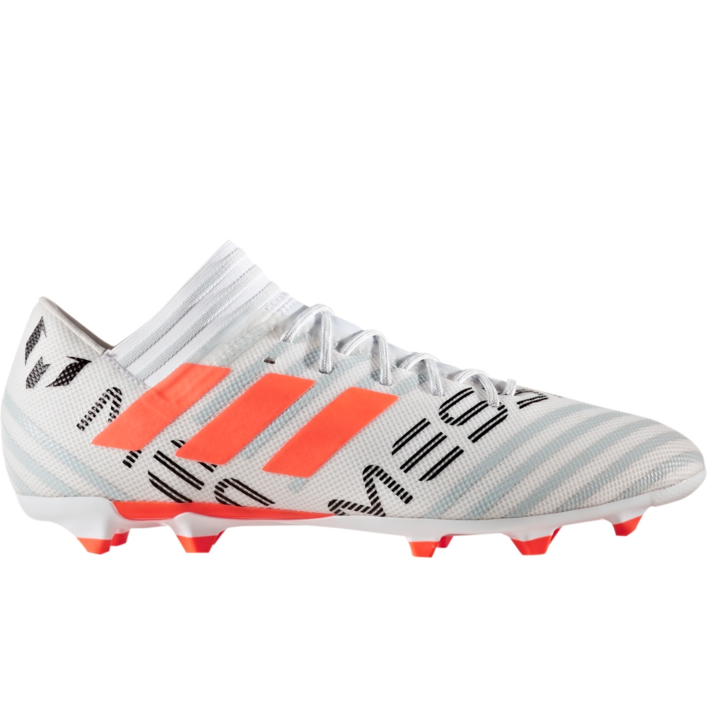 a585800ba3b Adidas Nemeziz Messi 17.3 FG Soccer Cleats (White Solar Orange Clear Grey)