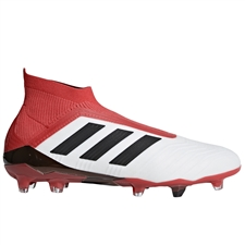Adidas Predator 18+ FG Soccer Cleats (White/Core Black/Real Coral)