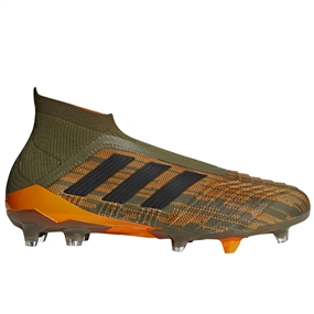 Adidas Predator 18+ FG Soccer Cleats (Trace Olive/Black/Bright Orange)