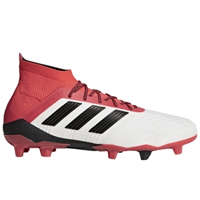 Adidas Predator 18.1 FG Soccer Cleats (White/Core Black/Real Coral)