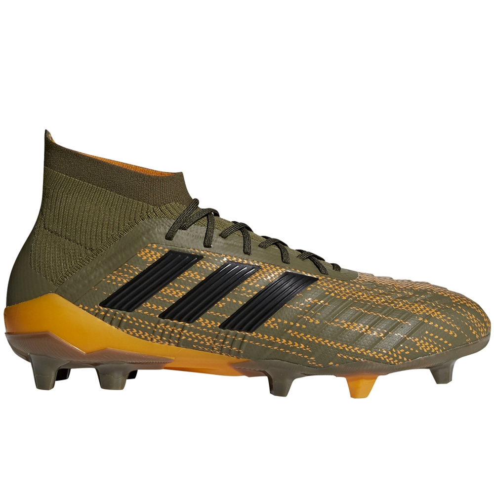Adidas Predator 18.1 FG Soccer Cleats (Trace Olive Black Bright ... 9be0ded8b
