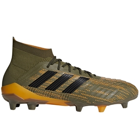 Adidas Predator 18.1 FG Soccer Cleats (Trace Olive/Black/Bright Orange)
