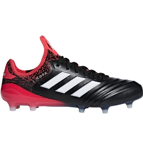 Adidas Copa 18.1 FG Soccer Cleats (Core Black/White/Real Coral)