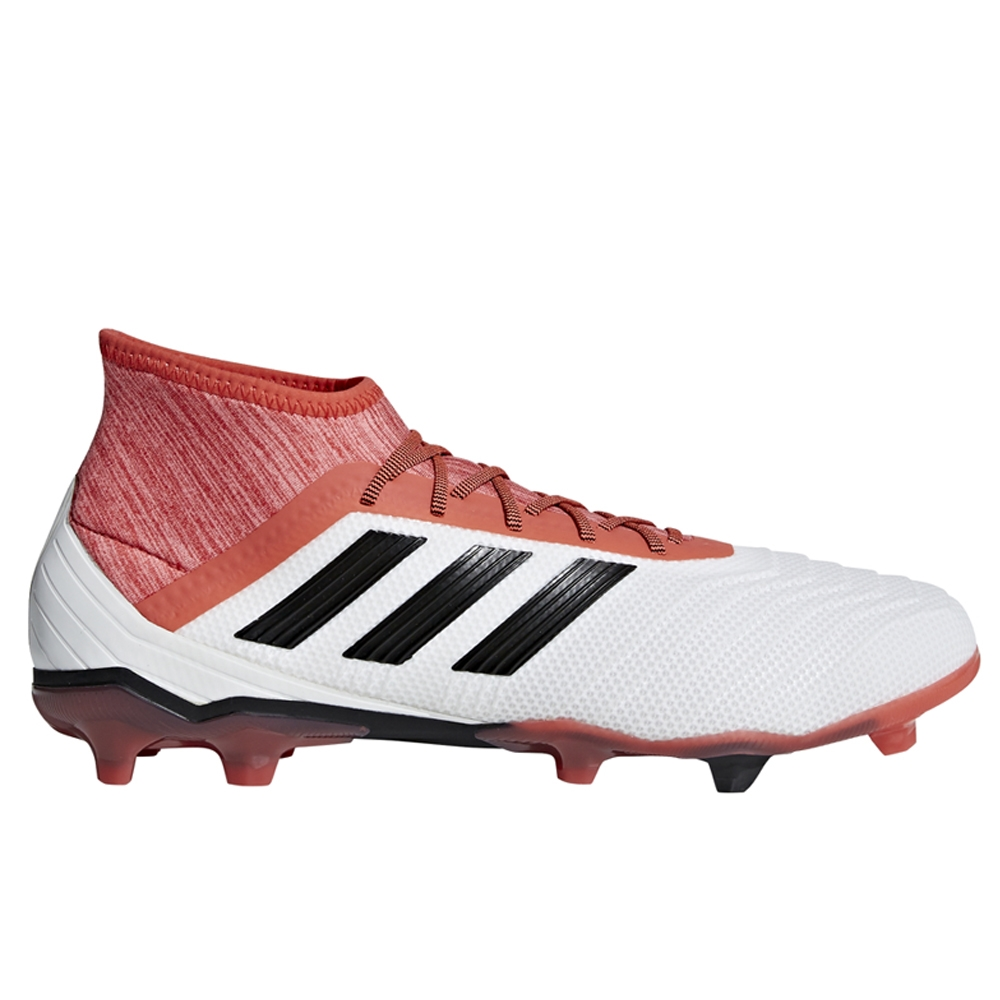 watch look out for look good shoes sale Adidas Predator 18.2 FG Soccer Cleats (White/Core Black/Real Coral)