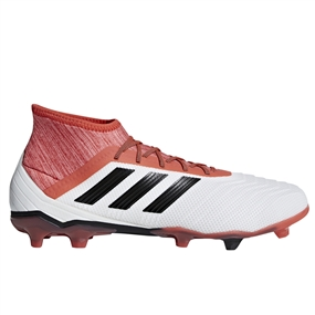 Adidas Predator 18.2 FG Soccer Cleats (White/Core Black/Real Coral)