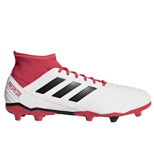 Adidas Predator 18.3 FG Soccer Cleats (White/Core Black/Real Coral)