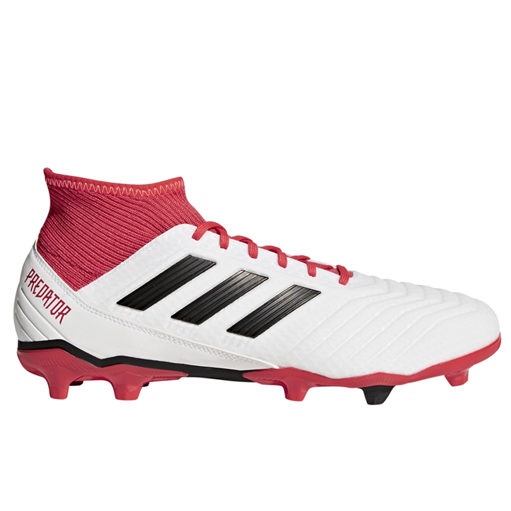 d0c54b121ddff Adidas Predator 18.3 FG Soccer Cleats (White Core Black Real Coral ...