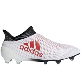 Adidas X 17+ FG Soccer Cleats (Grey/Real Coral/Core Black)