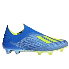 Adidas X 18+ FG Soccer Cleats (Football Blue/Solar Yellow/Core Black)