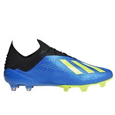 Adidas X 18.1 FG Soccer Cleats (Football Blue/Solar Yellow/Core Black)