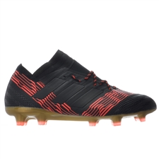 Adidas Nemeziz 17.1 FG Soccer Cleats (Core Black/Solar Red)